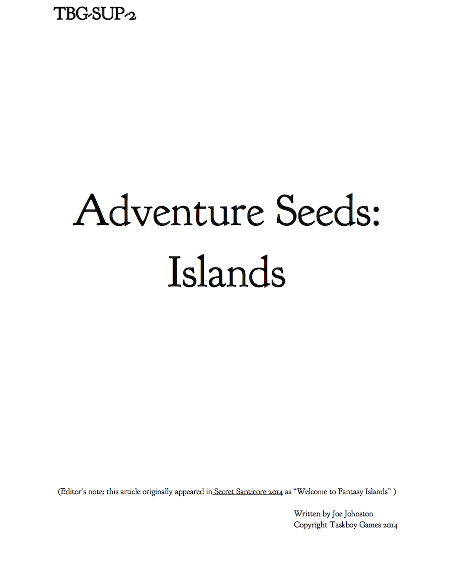 Adventure Seeds: Islands cover